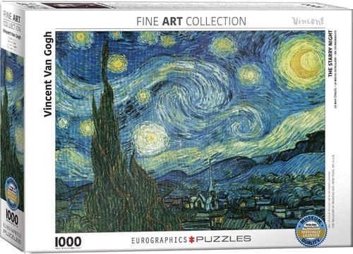 Starry Night - Vincent van Gogh Puzzel (1000 stukjes)