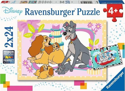 De schattigste Disney Puppies Puzzel (2 x 24 stukjes)