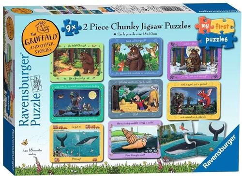 The Gruffalo en Andere Verhaaltjes Puzzel (9x2 stukjes)