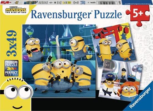 Grappige Minions Puzzel (3 x 49 stukjes)