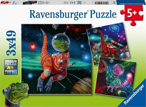 Dinosauriërs in de Ruimte Puzzel (3 x 49 stukjes)