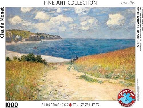Path Through the Wheat Fields - Claude Monet Puzzel (1000 stukjes)