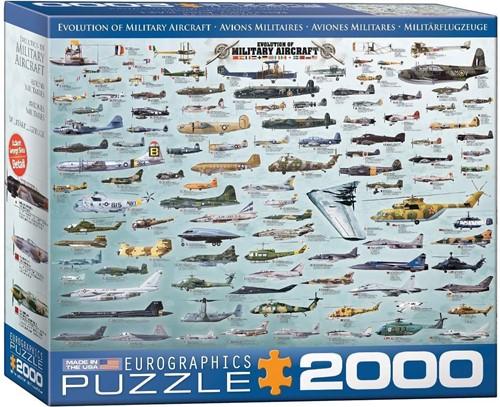 Evolution of Military Aircraft Puzzel (2000 stukjes)