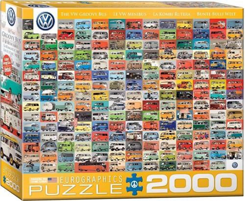 The VW Groovy Bus Puzzel (2000 stukjes)