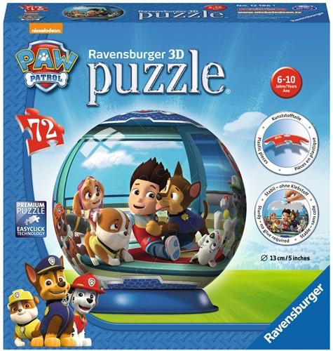3D Puzzel - Paw Patrol Puzzelbal (72 stukjes)