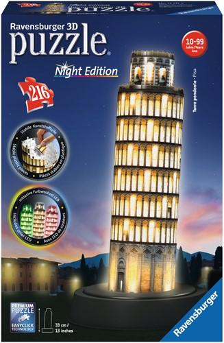 3D Puzzel - Toren van Pisa - Night Editie (216 stukjes)
