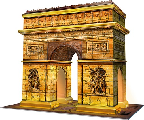 Arc de Triomphe - Night Edition 3D Puzzel (216 stukjes)-2