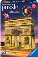 Arc de Triomphe - Night Edition 3D Puzzel (216 stukjes)-1