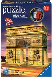 Arc de Triomphe - Night Edition 3D Puzzel (216 stukjes)
