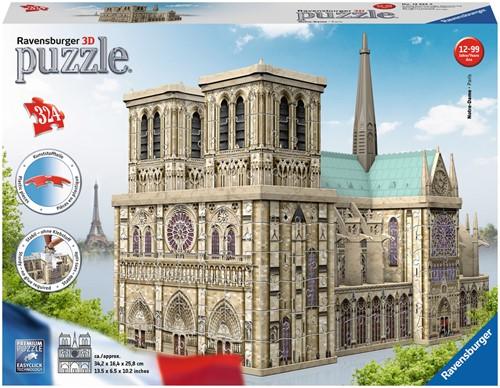 3D Puzzel - Notre Dame Parijs (324 stukjes)
