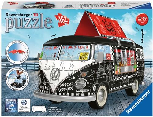 VW Bus Food Truck 3D Puzzel (162 stukjes) (Doos ingedeukt)