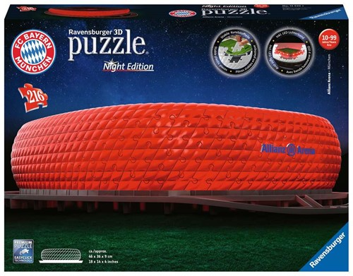 3D Puzzel - Alianz Arena - Night Edition (216 stukjes)