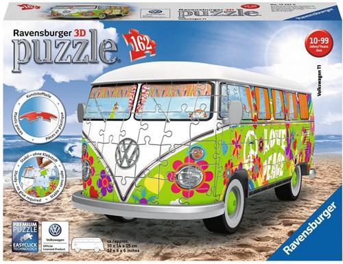 3D Puzzel - VW Bus T1 Hippie Style (162 stukjes)