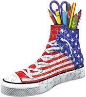 3D puzzel - Sneaker American Style Pennenbak (108 stukjes)-2