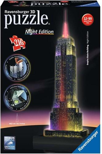 3D Puzzel - Empire State Building - Night Edition (216 stukjes)