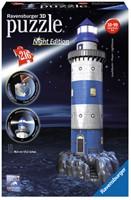 3D Puzzel - Vuurtoren - Night Edition (216 stukjes)-1