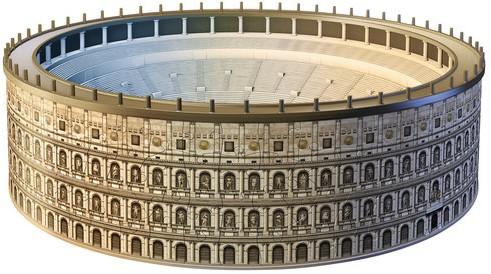 3D Puzzel - Colosseum (216 stukjes)-2