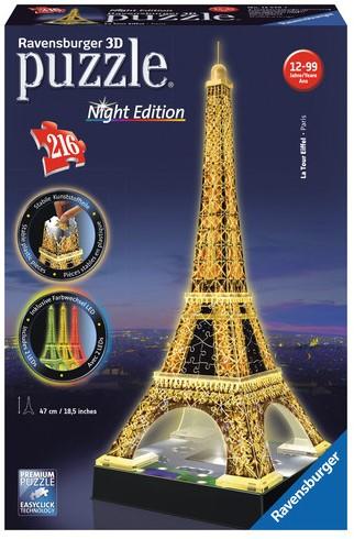 3D Puzzel - Eiffeltoren - Night Edition (216 stukjes)