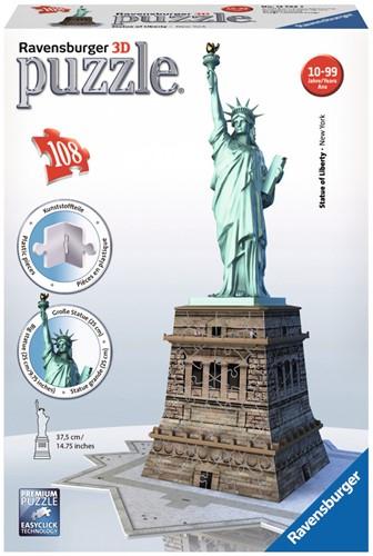 3D Puzzel - Vrijheidsbeeld (108 stukjes)