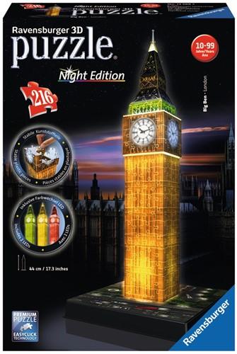 3D Puzzel - Big Ben - Night Edition (216 stukjes)-1