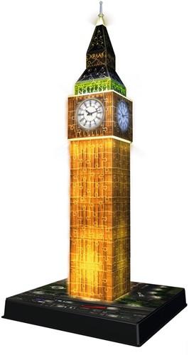 3D Puzzel - Big Ben - Night Edition (216 stukjes)-2