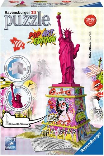 3D Puzzel - Statue of Liberty - Pop Art (108 stukjes)-1