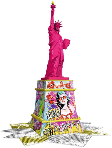 3D Puzzel - Statue of Liberty - Pop Art (108 stukjes)