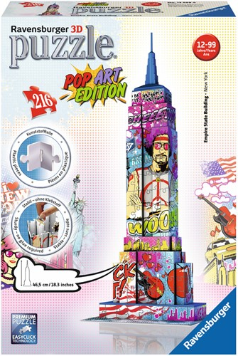 3D Puzzel - Empire State Building - Pop Art (216 stukjes)-1