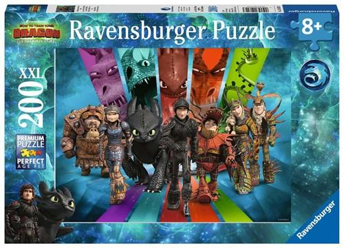 Dragons 3 De Drakenrijders van Berk Puzzel (200 XXL stukjes)