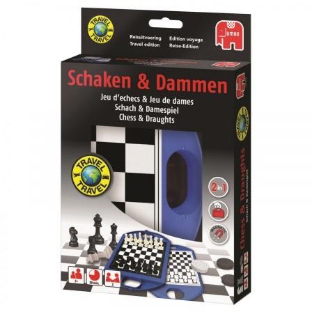 Schaken & Dammen Reiskoffertje