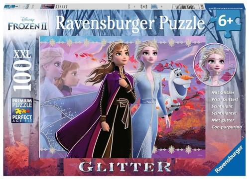 Frozen 2 - Sterke Zussen Glitter Puzzel (100XXL stukjes)