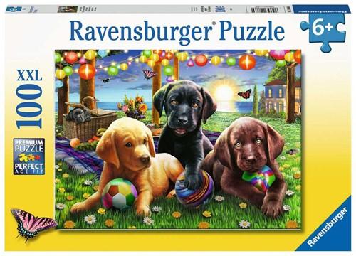Honden Picknick Puzzel (100 XXL stukjes)