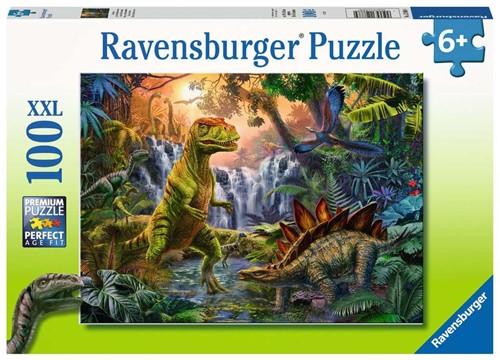 Oase van Dinosauriërs Puzzel (100 XXL stukjes)
