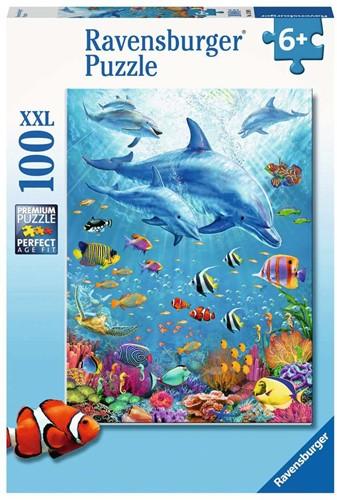 Bijeenkomst van de Dolfijnen Puzzel (100 XXL stukjes)