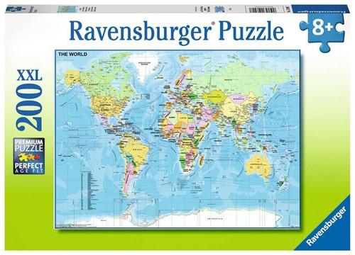 Wereldkaart Puzzel (200 XXL stukjes)