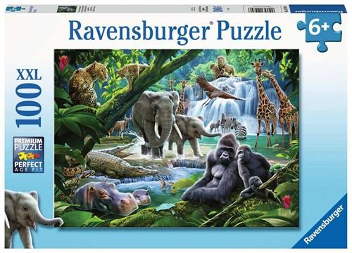 Jungle Dieren Puzzel (100 XXL stukjes)