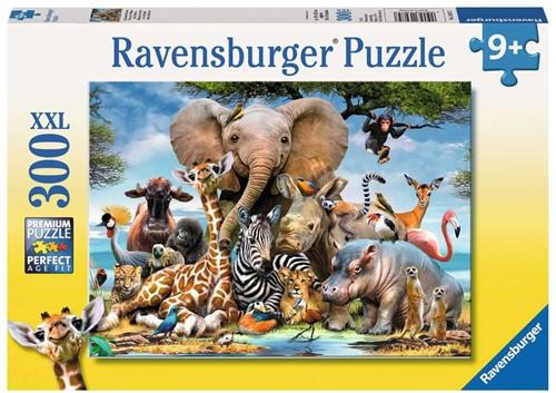 Afrikaanse Vrienden Puzzel (300 XXL stukjes)