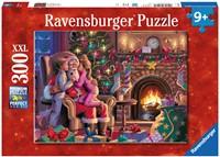 Bij de Kerstman XXL Puzzel (300 stukjes)-1
