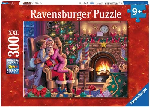 Bij de Kerstman XXL Puzzel (300 stukjes)