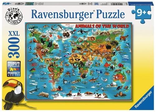 Dieren Over De Wereld Puzzel (300 XXL stukjes)
