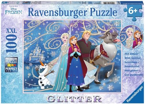 Disney Frozen Glinsterende Sneeuw Puzzel (100 XXL stukjes)