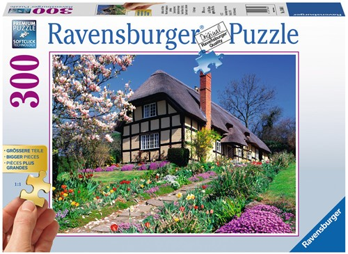 Cottage in de Lente XXL Puzzel (300 stukjes)-1