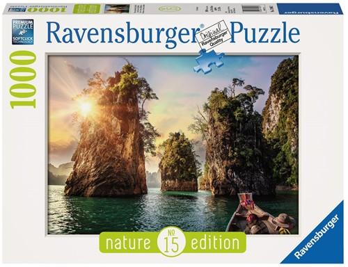 Three rocks in Cheow, Thailand Puzzel (1000 stukjes)
