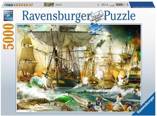 Battle On The High See Puzzel (5000 stukjes) (Doos beschadigd)
