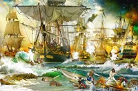 Battle On The High See Puzzel (5000 stukjes) (Doos beschadigd)-2