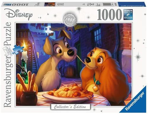 Disney Puzzel - Lady en de Vagebond (1000 stukjes)