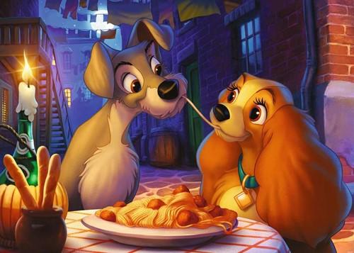 Disney Puzzel - Lady en de Vagebond (1000 stukjes)-2