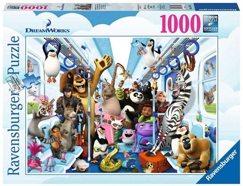 Dreamworks Familie op Reis Puzzel (1000 stukjes)