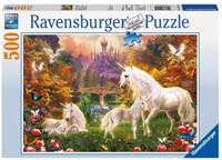 Betoverende Eenhoorns Puzzel (500 stukjes)-1