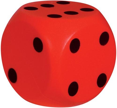 Grote Dobbelsteen 15 cm (Rood)